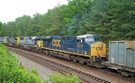 CSX 5219 and CSX 8588 round the curve